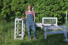 Freedom Baird showcasing her art installment Room to Grow