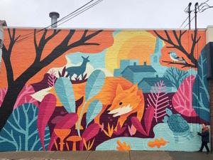 oh yeah fox mural graces za yourarlington com your news